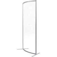 Visionchart Wave Screen Guard Curved Edge 1800x800mm Clear