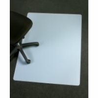 Marbig Polypropylene Chairmat Large Rectangle 120x150cm Frost