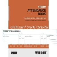 Wildon Attendance Book 180W A4 Burst Bound