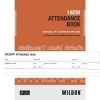 Wildon Attendance Book 180W A4 Burst Bound