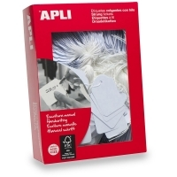 APLI String Tags White (No  391) 28x43mm BX500 900391