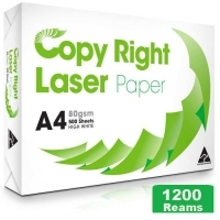 Copy Right A4 Paper 80gsm White G(240bxs:1200reams) 3Pallets