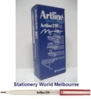 Artline Fineliner Marking Pens No 210 (0.6mm) BX12 Red