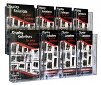 Deflecto Brochure Holder Lit-Loc Wall Display A5 x2 & DL x6
