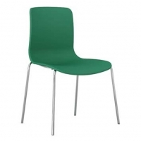 ACTI 4C 4 LEG CHAIR Chrome Frame With Plastic Shell Teal Green