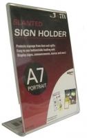 Deflecto Sign Holder Slanted A7 Portrait 46701