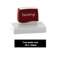iSTAMP Pre-Inked Laser Stamp iS14 60x16mm