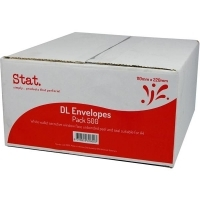 Stat Envelope 110x220 DL W/F PNS Secretive White Box of 500