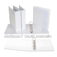 Ecowise Insert Binder A4 4D 25mm (200page) White BX27 NO LABEL