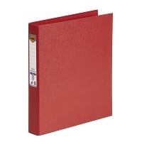 Marbig Ring Binder A4 25mm 2R 25mm PE Linen Red