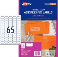 Avery Inkjet Label J8551 Clear PK25 65/sheet