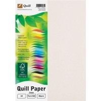 Quill Coloured Paper A4 80gsm Pack 500 - Cream