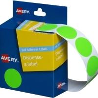 Avery Dispenser Label 24mm Fluoro Green BX350