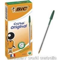 BIC Cristal Ballpoint Pens BX12 Medium Green