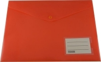 Osmer Doc Wallet A4 PP Button Closure+Name Pocket Orange