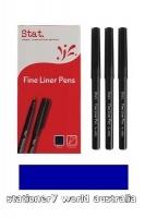 Stat Fineliner Pen Fine 0.4mm BX12 Blue