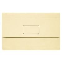 Marbig Slimpick Bright Document Wallet Manilla Fcap PK10 BUFF