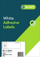CELCAST Labels 48016 BX100 16/sheet 99.1x34mm