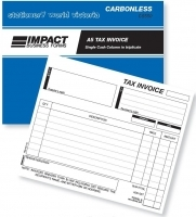 Invoice Book Triplicate A5 1MC Carbonless Impact CS550