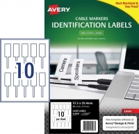 Avery L7136LT Printable Cable Markers Polyester PK25sh 2/sheet