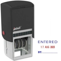 Deskmate Self-Ink Dater ENTERED/Date/By (2colour) 0316070