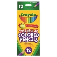 Crayola Triangular Coloured Pencils 684214 12 Pack