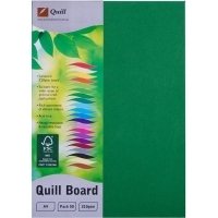 Quill Board A4 210gsm 90306 Pack 50 - Emerald
