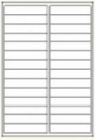 Custom Label 423 A4 BX100 28/sheet White 97x20
