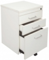 Rapid Vibe Mobile Desk Pedestal 3 Drawer White