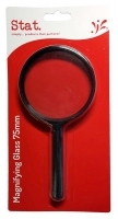 STAT MAGNIFYING GLASS 75mm Black