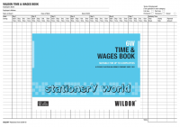 Wildon Time & Wages Book 6W (6 employees)