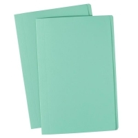 Avery Manilla Folders Coloured Fcap  BX100 Light Green