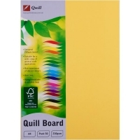 Quill Board A4 210gsm 90319 Pack 50 - Lemon