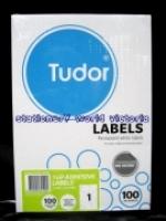Tudor Laser Inkjet Labels A4 BX100 141068 (1/sh) 210x297mm