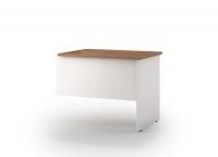 OM Premier Desk Return RHS 900x600mm Virginia Walnut / White