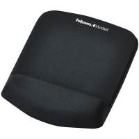 Fellowes PlushTouch Black Wrist Support Mouse Pad