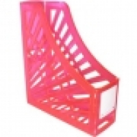 Italplast Magazine File Holder (Neon) Neon Red