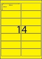 Rediform Colour Labels A4 Bx100 (14/sh) 98x38 Flouro Yellow