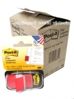 3M Post It Flags 680-1-24CP Red Flag Cabinet Pack (24pack)