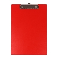 Bantex Clipboard Standard PVC A4 Red BX20