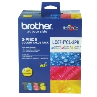 Brother Ink Cartridge LC67HYCL3PK CMY  HY Col Pack