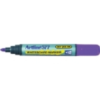 Artline Whiteboard Marker 577 Bullet Point Purple BX12