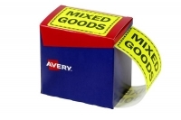 Avery Dispenser Label Printed MIXED GOODS 125x75mm PK750