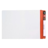 AVERY LATERAL FILE Mylar Reinfcd Tabs Fcap 42433 Dk Orange/Clear