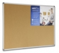 Visionchart Corporate Cork Board Aluminium Frame 1200x1200