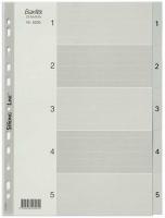 Divider A4 PVC Grey 1-5 Bantex 6205