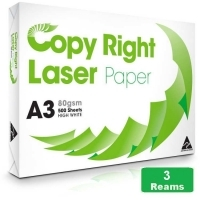 Copy Right A3 Paper 80gsm White B(1Box-3reams)