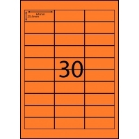 Rediform Colour Labels A4 Bx100 (30/sh) 64x25.4 Flouro Orange