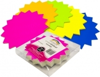 RAINBOW KINDA STARBURST FLUORO 150mm Assorted Pack60