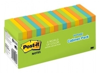 Post-It Notes 654-18BRCP 76x76mm Jaipur Cabinet Pack PK18